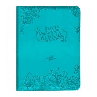 9789587454765-Santa-Biblia-azul-aguamarina-con-canto-plateado