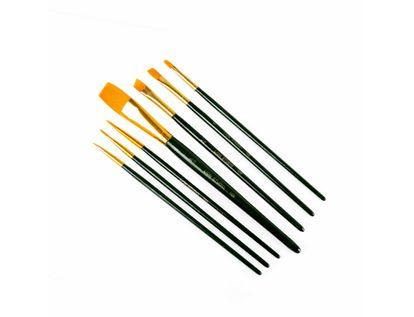 pinceles-lion-brush-studio-7-nylon-dorado-por-7-unidades-7707005802761