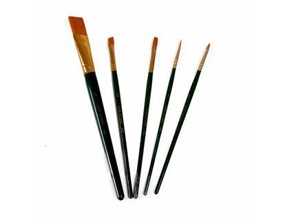 pinceles-lion-brush-studio-5-nylon-dorado-por-5-unidades-7707005802778