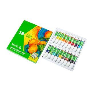 set-de-acrilicos-finos-reeves-por-18-unidades-de-12-ml-94376911985