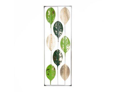 cuadro-31x89-4-hojas-verdes-dorado-7701016865104