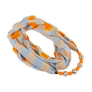 pashmina-escoces-naranja-con-collar-de-esferas-7701016843256