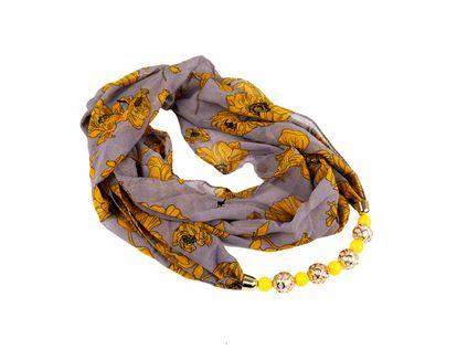 pashmina-gris-diseno-flores-amarillas-con-collar-de-esferas-7701016843263