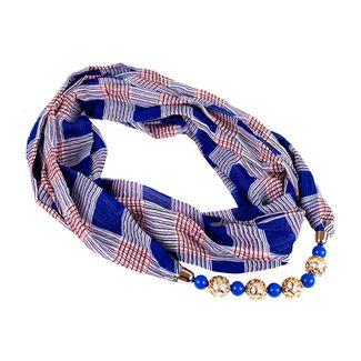 pashmina-escoces-azul-con-collar-de-esferas-7701016843249