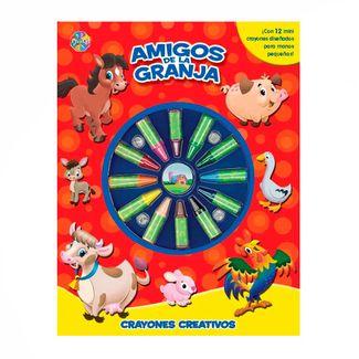 crayones-creativos-amigos-de-la-granja-9782764347171