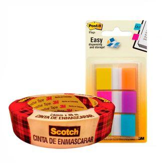 combo-cinta-enmascarar-24mm-x-40m-banderitas-1-por-6-colores-7701016060066