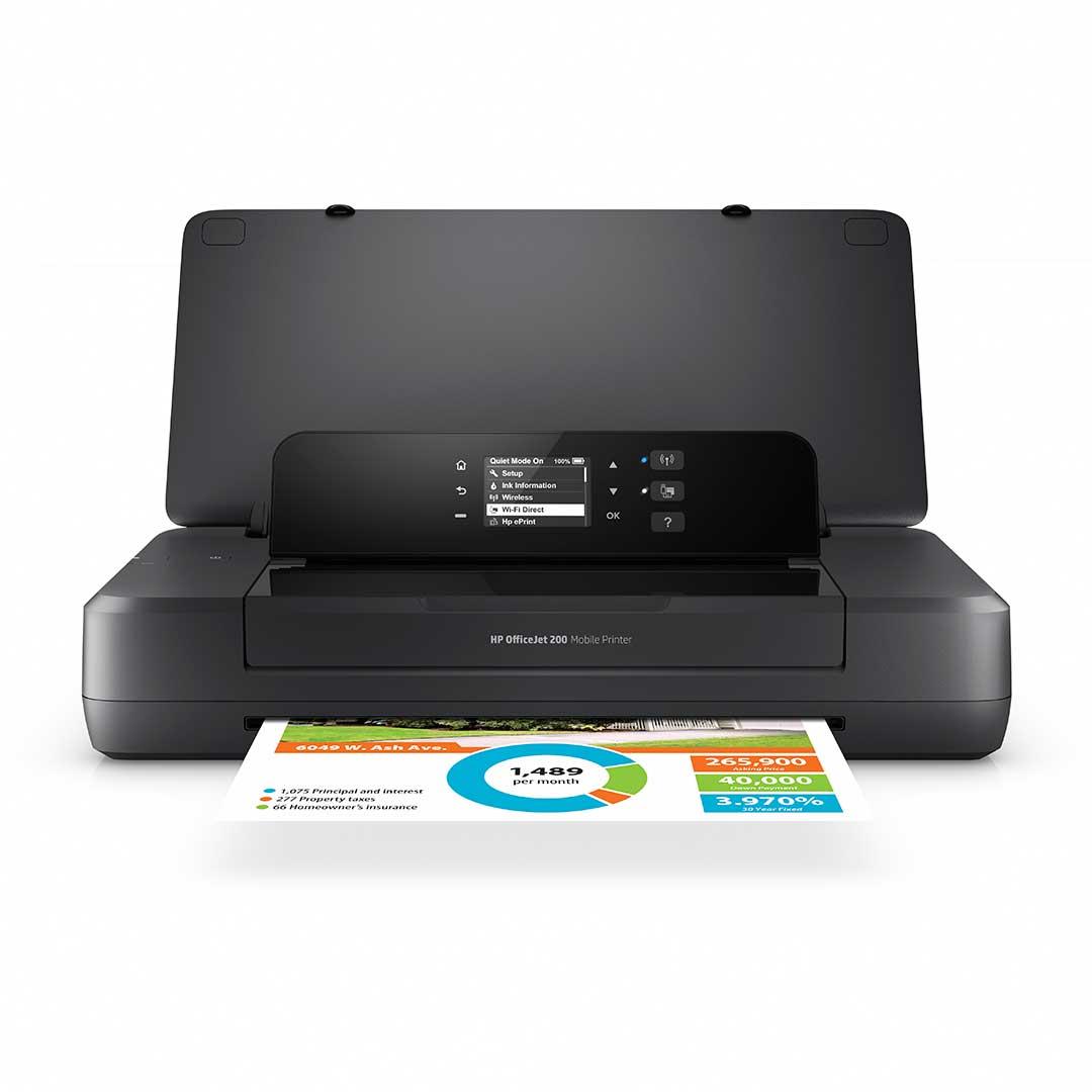 impresora portátil inalámbrica hp officejet 200