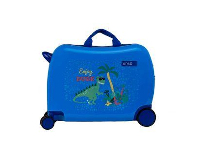 maleta-para-viaje-pequena-con-ruedas-cabina-talla-s-diseno-dinosaurio-enjoy-dude-1-8435578328102