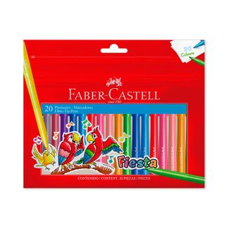 plumones-faber-castell-fiesta-20-unidades-7754111001427