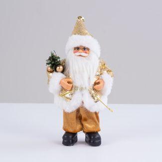 papa-noel-dorado-con-abrigo-de-lentejuelas-y-ramas-verdes-19-cm-7701016901680
