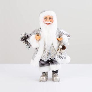 papa-noel-plateado-con-abrigo-de-lentejuelas-y-bolsa-de-regalos-38-cm-7701016902632