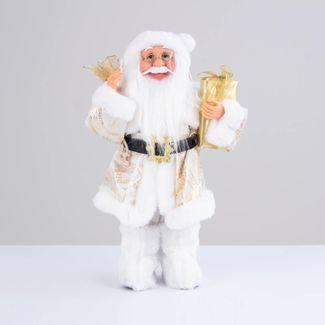 papa-noel-con-abrigo-beige-y-bolsa-de-regalo-38-cm-7701016902779