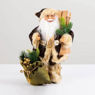 papa-noel-con-abrigo-color-cobre-y-bolsa-de-regalos-38-cm-7701016902793
