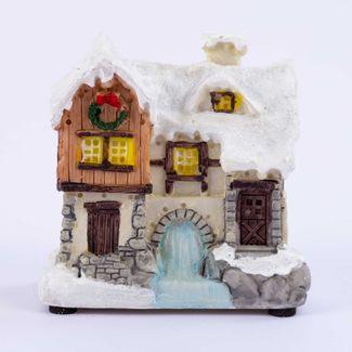 villa-nevada-10-cm-blanca-beige-con-y-luz-led-en-polirresina-7701016981873
