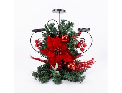 candelabro-con-3-portavelas-poinsettias-y-hojas-rojas-36-5-cm-7701016008143