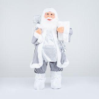 papa-noel-80-cm-abrigo-plateado-con-lampara-y-bolsa-de-ralos-blanca-7701016911436