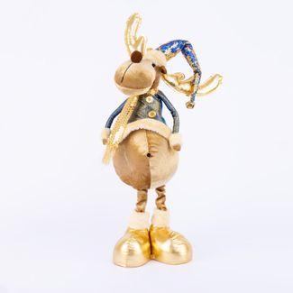 reno-51-cm-de-pie-con-gorro-y-bufanda-azul-dorado-7701016952880