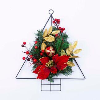 arbol-para-colgar-con-poinsettias-rojas-y-hojas-doradas-41-cm-7701016007504