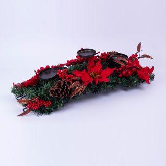 candelabro-60-cm-con-tres-portavelas-poinsettia-rojo-borde-escarchado-7701016011709