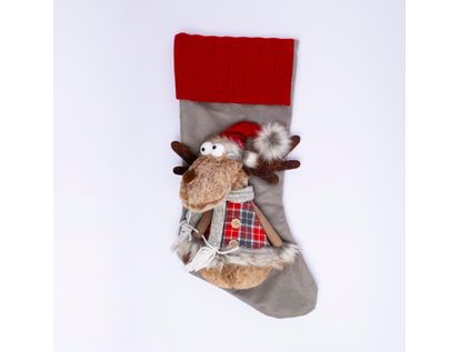 bota-con-peluche-de-reno-gris-rojo-46-cm-7701016954310