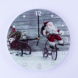 reloj-de-pared-navideno-diseno-papa-noel-en-bicicleta-con-trineo-7701016050364