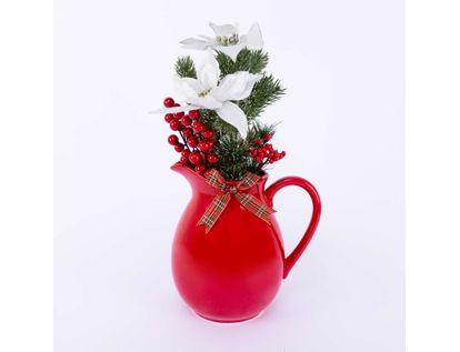 florero-navideno-con-poinsettias-frutos-rojos-y-mono-7701016997898