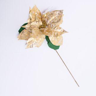 poinsettia-color-dorado-con-hojas-verdes-50-cms-7701016005944