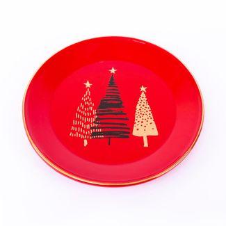 plato-navideno-rojo-24-cm-diseno-arboles-navidenos-7701016026086