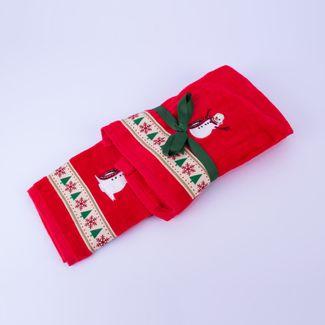 set-de-toallas-navidenas-x-2-piezas-diseno-hombre-de-nieve-7701016011327