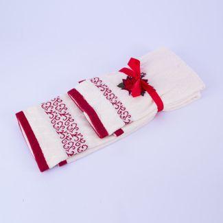 set-de-toallas-navidenas-x-2-piezas-diseno-poinsettias-7701016019293