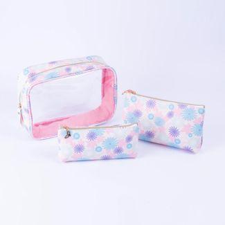 set-cosmetiquera-x-2-unds-flores-rosadas-7701016836548