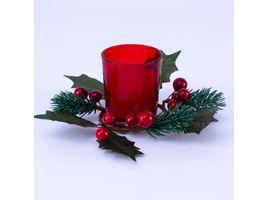 vela-en-candelabro-rojo-translucido-de-vidrio-con-adorno-de-picks-verdes-con-frutos-rojos-6-7-x-5-5-cms-7701016037242