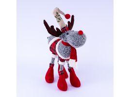 reno-gris-con-chaqueta-a-cuadros-bufanda-y-botas-rojas-43x33-cms-7701016026994
