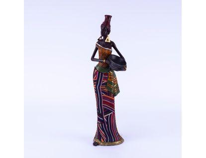 figura-de-mujer-africana-con-tazon-vestido-tribales-color-verde-naranja-y-lineas-7701016957588