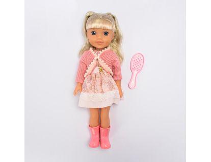 muneca-con-vestido-de-flores-color-rosado-con-cepillo-de-cabello-36-cms-6902083800123