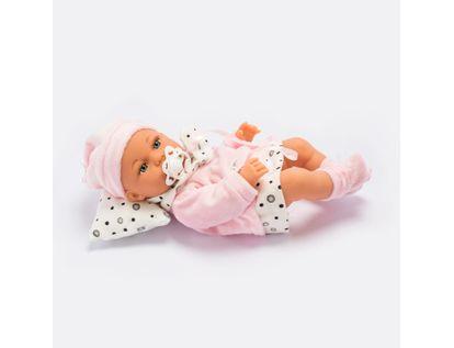 bebe-con-vestido-rosado-con-blanco-y-puntos-negros-con-accesorios-34-cms-6902083800260