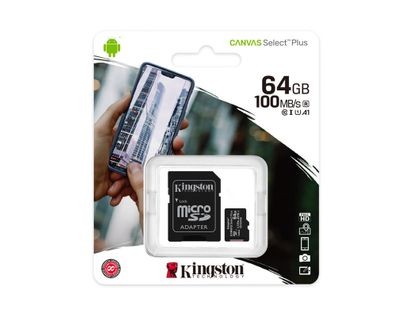 memoria-kingston-micro-sd-64gb-clase-10-100mb-s-740617298697