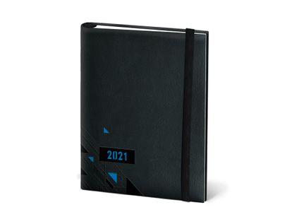 agenda-2021-diaria-azul-oscura-con-letras-naranja-y-banda-elastica-7702124291946