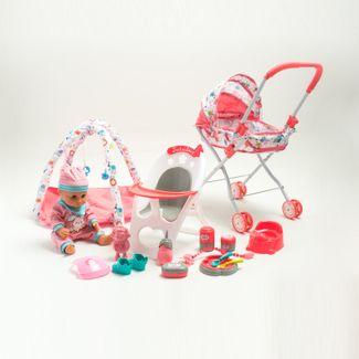 bebe-con-pijama-de-conejito-16-en-1-con-coche-silla-y-gimnasio-de-juegos-36-cms-6902083800345