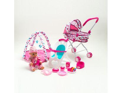 bebe-con-pijama-de-osito-16-en-1-con-coche-silla-y-gimnasio-de-juegos-36-cms-6902083800420