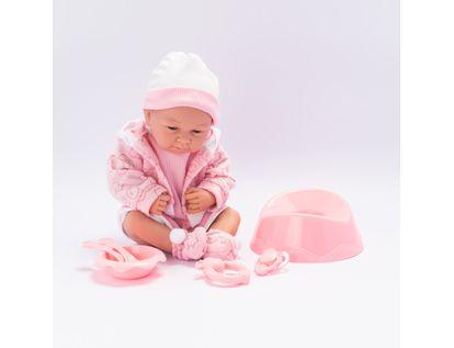 bebe-con-vestido-y-chaqueta-color-rosado-con-accesorios-34-cms-7701016033572