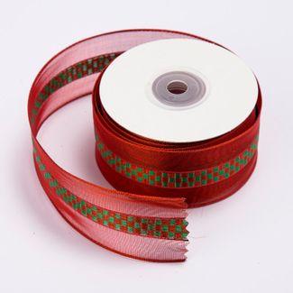 cinta-de-poliester-3-8-cms-x-9-mts-color-rojo-traslucido-con-cuadros-verdes-7701016818094