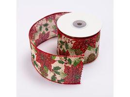 cinta-de-poliester-6-4-cms-x-9-mts-color-natural-con-pinas-y-hojas-rojas-7701018017747