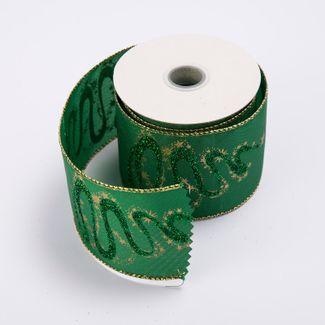 cinta-de-poliester-6-4-cms-x-9-mts-color-verde-con-estrellas-doradas-7701018017846
