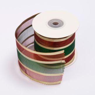 cinta-de-poliester-6-4-cms-x-9-mts-traslucida-diseno-lineas-vino-tinto-verde-y-doradas-7701018018119