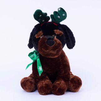 peluche-de-perro-rottweiler-navideno-cafe-43-cm-608086