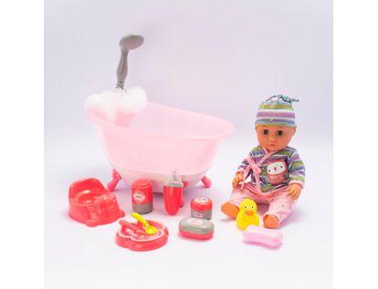bebe-con-banera-rosada-con-luz-y-sonido-34-cms-6902083800031