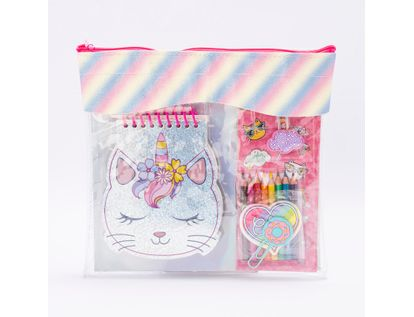 set-de-diario-caticornio-con-colores-mini-y-clips-con-diseno-6956133604001
