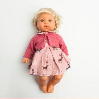 muneca-con-vestido-rosa-con-figuras-de-animales-con-saco-rosa-6-cms-6902083800284