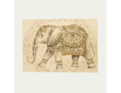 cuadro-canvas-elefante-con-manta-y-piedras-gris-beige-7701016930857